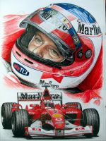Rubens Barrichello 2002 by machoart