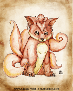 Pokedex Project: Vulpix by lmerlo72