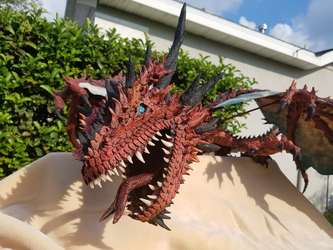 Red Dragon Full Body Front View by bucsfan0047