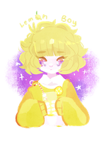 lemon boy, citrus friend by kittensurgery