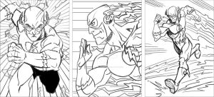 The Flash sketch card rough pencils by CharlesEttinger