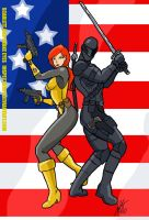 Battle Couple Scarlett and Snake Eyes  by Inspector97