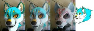 Husky Design Fursuit Head WIP 1 by MissRars
