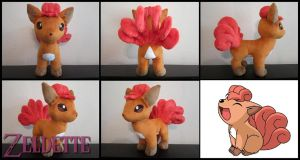 Vulpix Pokemon Plush by Maz-Zeldette