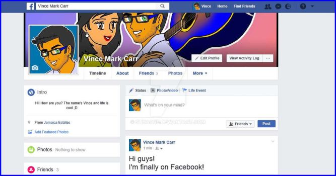 Vince Carr's Facebook 1 by sthaque
