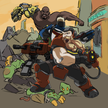 [WIP] My next Overwatch fanart by AlexZebol