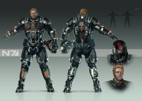 Mass effect armour design by LokiDokie8