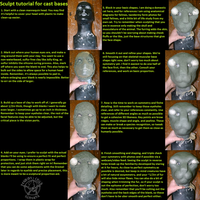 Sculpt tutorial for cast bases by fenrirschild