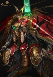Mechanical Samurai Nobunaga - Closeup by emersontung