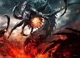 Magic: The Gathering / Flameborn Hellion by Aleksi--Briclot