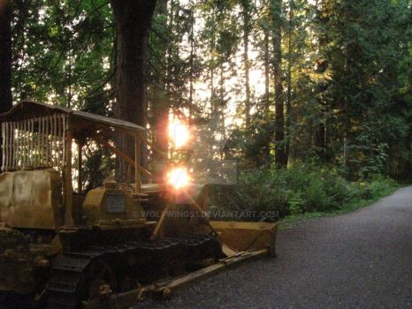 Bulldozing The Light. by wolfwings1