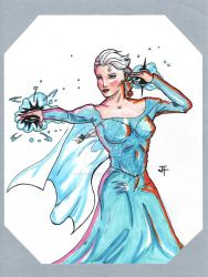 Elsa Comic Book Form by IronWarrior777