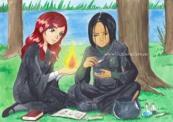Little Severus and Lily by Alkanet
