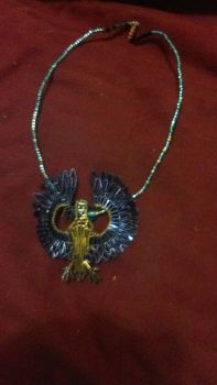Blue And Gold Macaw Pendant by Moongara