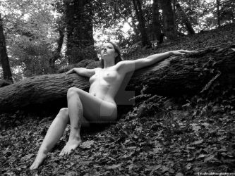 Nude in woods 1 by deadheadphotography