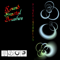 Round Fractal Brushes by PinkPanthress-Stock