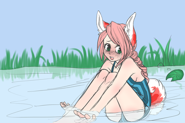 Fairfax, why are you in a pond...? by Kiz-met