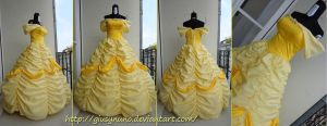 Belle's ballgown - Disney's Beauty and the Beast by giusynuno
