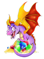 Speedpaint-Spyro the Dragon by Acidiic