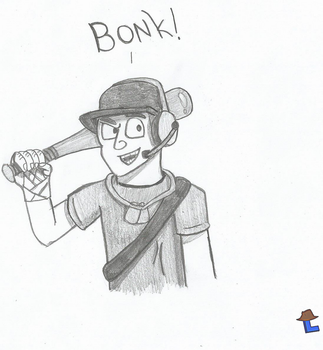 Tf2 Scout ~ Bonk! by Laukku2000