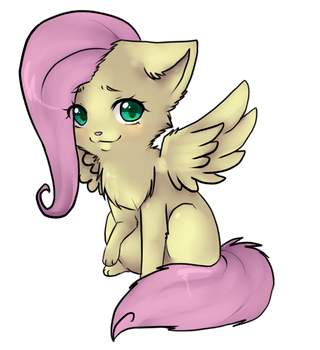 FlutterShy Kitty by ninetail-fox