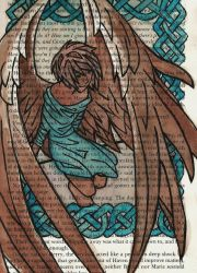 wings and celtic knots by dragonartist22