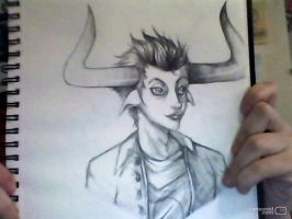 Tavros Sketch by gaaradesertdreams
