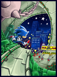 Sonic in Star Light Zone again by gsilverfish