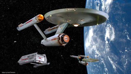Restored Starship Enterprise Model at Starbase 11 by Cannikin1701