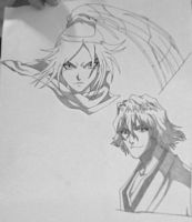 Bleach faces 2 unfinished by Otaku-Mom
