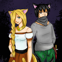 Neko Boy and Girl by Chyche