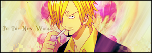 To the new world-Sanji by Loowo