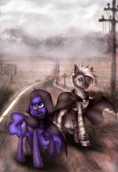 two in the wasteland by LimreiArt