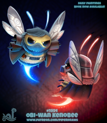 Daily Paint 1954# Obi-Wan Kenobee by Cryptid-Creations