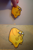 Jake the Dog paperchild by VickyViolet