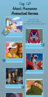 top 10 best animated heroes from the 80's by JefimusPrime