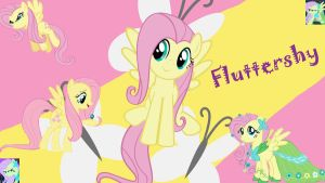Fluttershy Collage by Busted-Love
