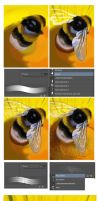 The bumblbee: step by step by XGingerWR