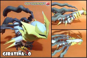 Giratina Origin form papercraft by javierini
