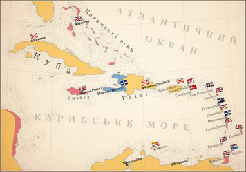 Map of the West Indies colonization by mihaly-vadorgrafett