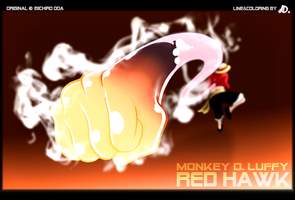 Monkey D. Luffy - Red Hawk by dDsign