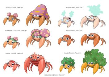 Paras and Parasect Fakemon by JoshuaDunlop