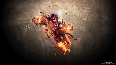 LoL - Iron Scale Shyvana Wallpaper HD by xRazerxD