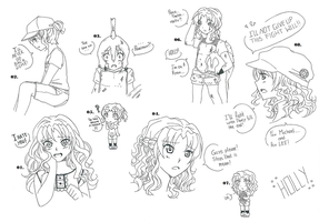 Holly - from 9 to 14 years by LiLy-GaRdIs