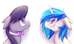 Collab with shyshyoctavia: Octavia and Vinyl by Meewin
