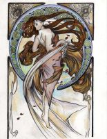 Alphonse Mucha's 'Dance' by fabs-11