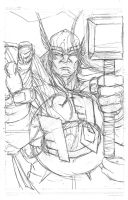 Thor pencils by victoroil