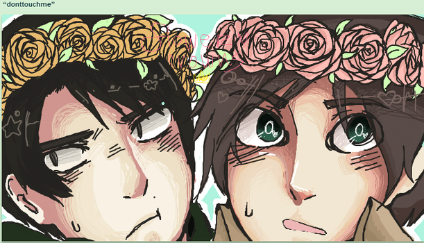 snk-flower crowns by whimsicottsh