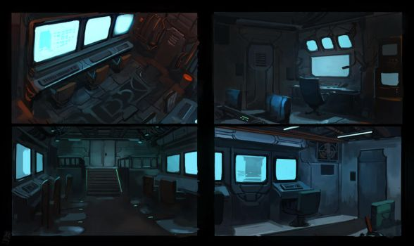 Control Room - Interior Thumbnails by Raph04art