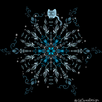 Night of the Blue Flower by CatSpaceDesign